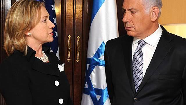 Hillary Clinton und Benjamin Netanjahu