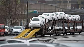 Auch der Autoverkauf ist stark betroffen (Archiv: Amag beim Import von Audis in Bad Schinznach).