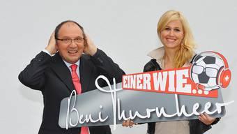 Beni Thurnheer mit Claudia Lässer.