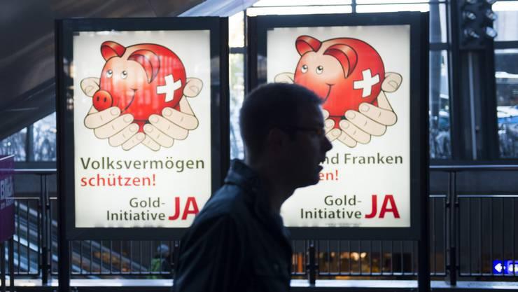 Wer die Pro-Kampagne für die Goldinitiative finanziert, bleibt im Dunkeln.