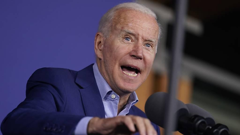 Joe Biden, Präsident der USA, spricht bei einer Wahlkampfveranstaltung. Foto: Andrew Harnik/AP/dpa
