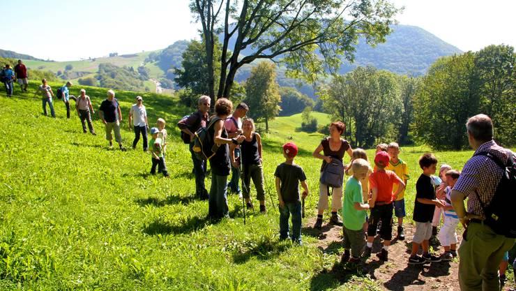 Die Jurahöhen im Norden der Gemeinde verlangten von den Wanderern einige Fitness ab.