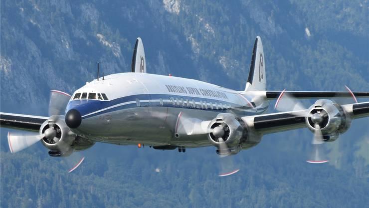 Ein Höhepunkt an den Flugtagen in Rickenbach-Hütten wird der Überflug der Basler Breitling Super Constellation, genannt «Super Connie», sein.