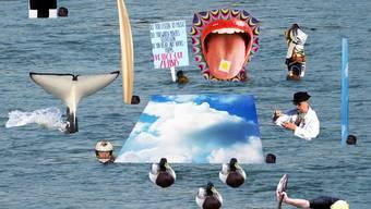 """Kunstprojekt """"Water Yump"""" von Benedikt Wyss und Thomas Geiger"""