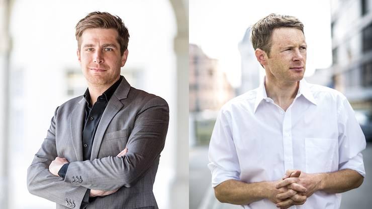 Parteipräsident Daniel Hölzle und Ex-Nationalrat Jonas Fricker.