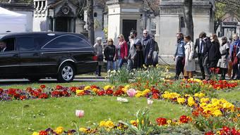 Familienmitglieder und Freunde nahmen am Dienstag in Paris Abschied von der verstorbenen Filmregisseurin Agnès Varda.