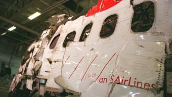 Reste der abgestürzten MD-11 der Swissair, welche bei Halifax abstürzte