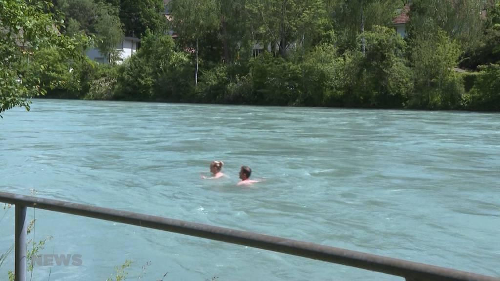 Hohe Pegelstände: Schwimmen in Flüssen momentan sehr gefährlich