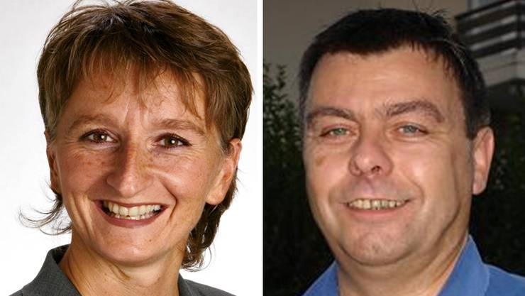 Gemeindepräsidentin Kathrin Härdi und Vizeammann Roland Christen scheiden Ende Jahr aus dem Gemeinderat Brunegg aus.