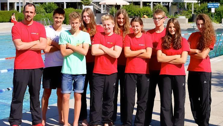 Diese hoffnungsvollen Schwimmtalente von Swim Regio Solothurn haben sich für die Schweizer Sommermeisterschaften qualifiziert.