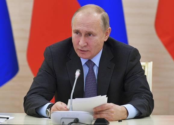 Absage: Vladimir Putin, Präsident Russland.