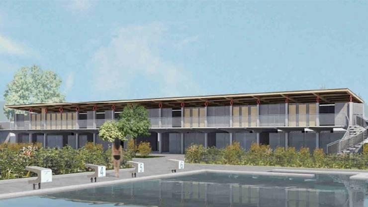 Das markante Garderobengebäude des Freibads kann auf den neusten Stand gebracht werden.