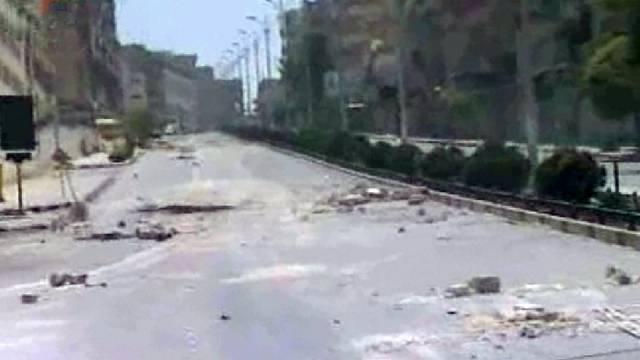 Leere Strasse in der zentralsyrischen Stadt Hama (Symbolbild)