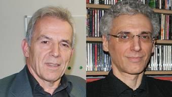 Peter Vogel (FDP) links und William Steffen (parteilos) rechts wollen in den Geroldswiler Gemeinderat.