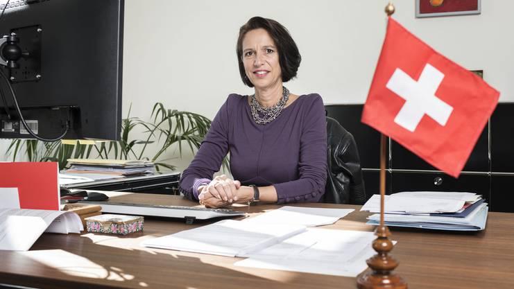 Christine Schraner Burgener in ihrem Büro in Berlin.