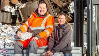SVP-Grossrätin Karin Bertschi beschäftigt seit acht Jahren den IV-Bezüger Michael Rohr im Reinacher Recycling-Paradies.