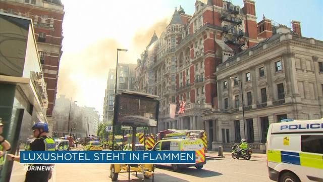Londoner Luxushotel steht in Flammen