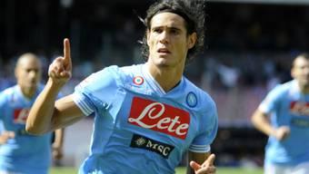 Napolis Edinson Cavani besiegte Lazio praktisch im Alleingang