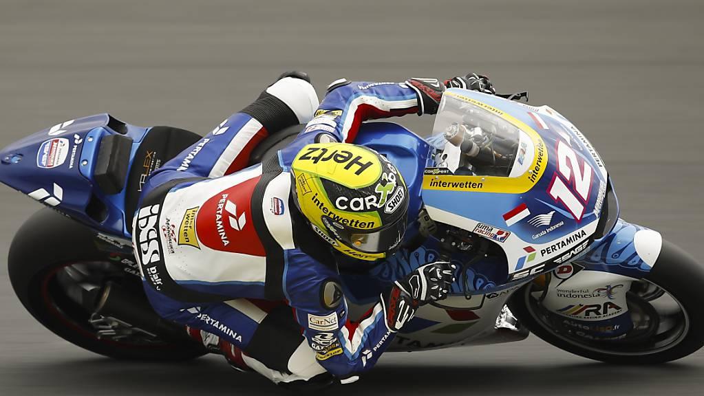 Nur kleine Fortschritte: Tom Lüthi auf dem Circuit in le Mans.