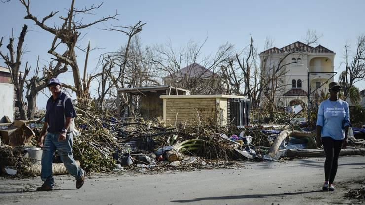 Auch kleinere Inseln vor Florida wurden in Mitleidenschaft gezogen. Auf dem Bild zu sehen ist ein Haus auf St.Martin.