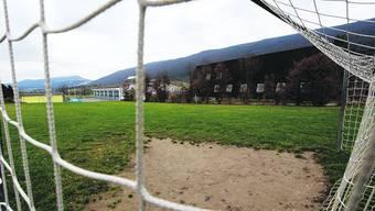 Standort: Auf dem Gelände nördlich des Pfarreiheims sollen der Bühnensaal und die Sporthalle dereinst gebaut werden. (Bild: Hansruedi Aeschbacher)