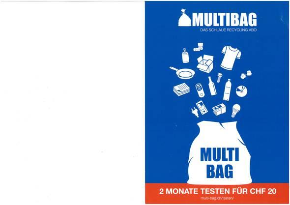 Der Flyer von Multibag mit Preisangabe. (zvg)