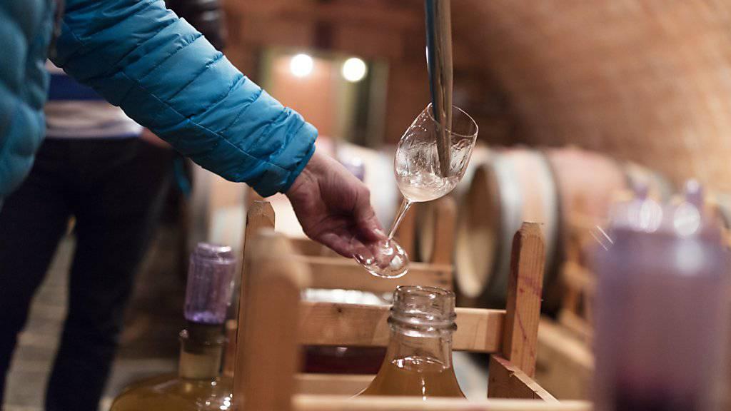 Schweizer Weinkontrolleure haben im vergangenen Jahr 1336 Betriebe kontrolliert. In 19 Fällen wurden dabei gravierende Mängel festgestellt. (Symbolbild)