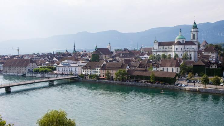 Blick auf die Stadt Solothurn vom Ramada. Die Maxime des Solothurner Freisinns: Offen für alle, die sich zu diesem Staat und seinen Institutionen bekennen.