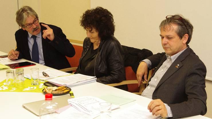 V.l.: Ständerat Roberto Zanetti, Nationalrätin Bea Heim, Nationalrat Philipp Hadorn