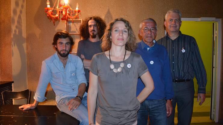 Der Vorstand ist bereit für den Kampf: v.l. Yves Stuber, Daniel Kissling, Regina Graber, Jürg Meier und Felix Wettstein.