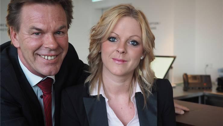 Markus und Xenia Schwehr waren beim Start optimistisch, nun verlassen sie den «Rheinfels Park» vorzeitig. archiv/twe