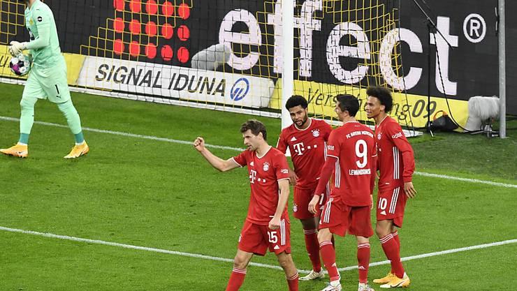 Die Bayern jublen gegen Dortmund erneut: Vierter Sieg in Folge gegen den Rivalen