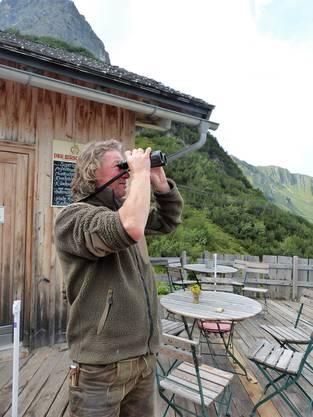 Walser und Wirt hoch über dem Tal Mathias Fritz.