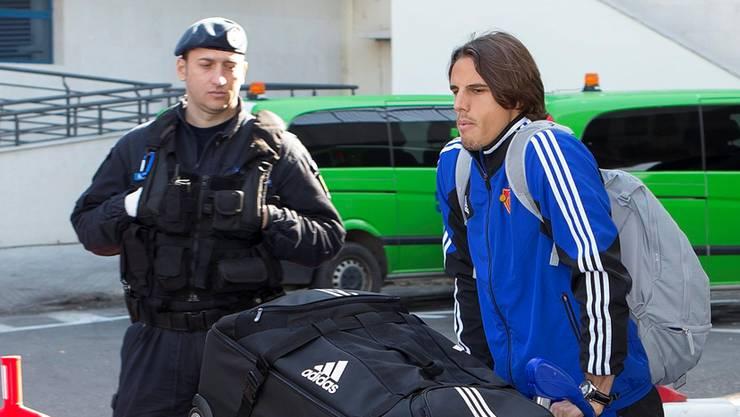 Yann Sommer bei der Ankunft am Bukarester Flughafen.di Nolfi/Key