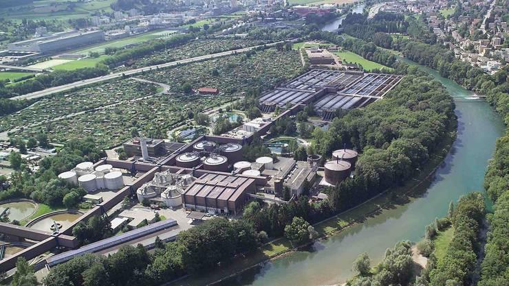 Im Bild die Anlage Werdhölzli, wo Biogas für Zürich hergestellt wird.