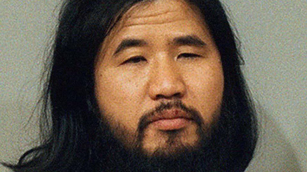 Der Guru der japanischen Endzeit-Sekte Aum, Shoko Asahara. (Archivbild)