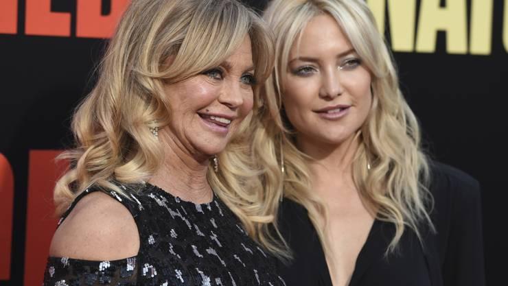 Sie teilen vieles, sogar das Erlebnis einer Geburt: Schauspielerin Goldie Hawn und ihre Tochter Kate Hudson. (Archivbild)