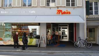 Die Laufenburger Bäckerei Maier hat bereits mehrere Filialen (im Bild: Aarau). Nun kommt in Zeiningen eine weitere hinzu. archiv