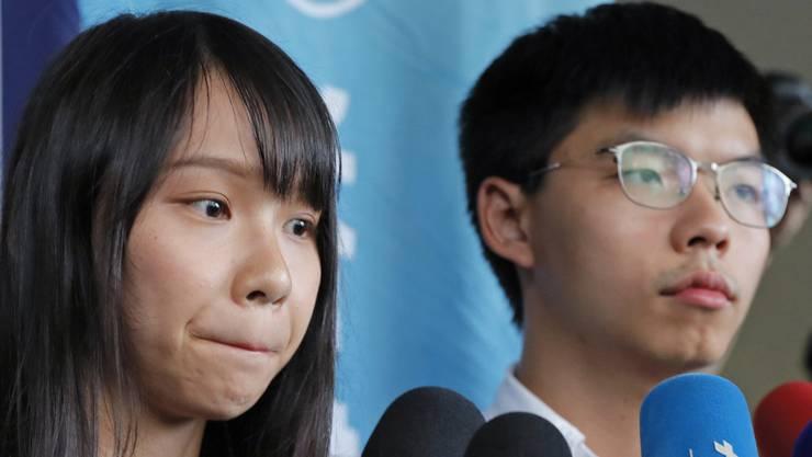 Wurden wieder freigelassen: Agnes Chow und Joshua Wong