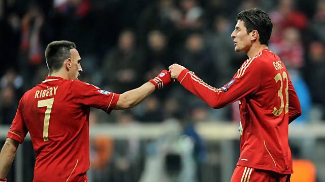 Ribéry und Gomez trafen für die Bayern