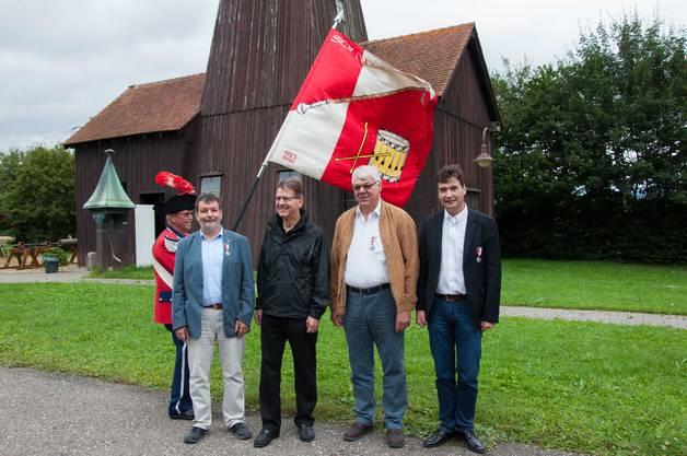 Veteranen mit 40 Jahr Mitgliedschaft v.l.r Roland Heim, Thomas Fröhlicher, Ueli Lisser, François Scheidegger