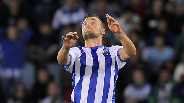 Haris Seferovic kam mit Real Sociedad in Runde 12 zu Kantersieg.