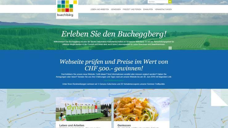 So sieht die neue Website buechibaerg.ch aus.