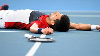 Novak Djokovic musste gegen Daniil Medwedew erneut Schwerstarbeit verrichten