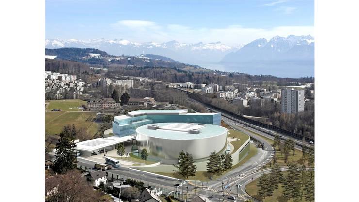 So soll die Lausanner Variante des Ozeaniums aussehen: Das Aquatis entsteht neben einem Hotel mit Kongresszentrum.
