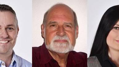 Die SVP-Gemeinderatskandidaten (vl.): Patrik Strahm (bisher), Peter Rickenbacher und Sabrina Sutter.
