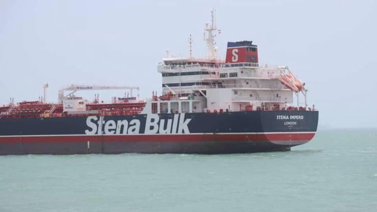 """Die iranischen Revolutionsgarden hatten den britischen Tanker """"Stena Impero"""" am Freitag in der Strasse von Hormus aufgebracht, weil er gegen """"internationale Schifffahrtsregeln"""" verstossen haben soll."""