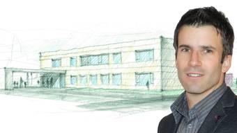 So soll das neue Schulgebäude in Holziken aussehen. Vizeammann Lukas Treier: «Wir wollen etwas Nachhaltiges bauen.»