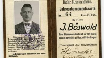 Eine Hinterlassenschaft im Bundesarchiv: Böswalds Tram-Abonnement aus dem Jahr 1936.