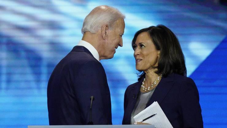 Bei einer Wahlkampfveranstaltung im September 2019 waren sie noch Konkurrenten im Rennen um die Kandidatur der Demokraten: Zukünftig bilden Joe Biden und Kamala Harris ein Team.
